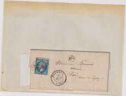 """Marcophilie TP N°22 -OB-GC-3994 +CàD  TYPE 15 TOURNUS +BOITE LOCALE B""""UCHISY"""" - 1849-1876: Periodo Classico"""