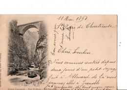 GRANDE CHARTREUSE. - Pont St-Bruno. - ND Phot.  Ecrite En 1898. TRES BON ETAT. Voir SCANS Recto-verso - Other Municipalities