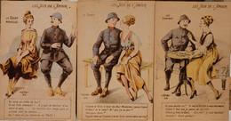 Les Jeux De L'amour-lot De 3 Cartes - Umoristiche
