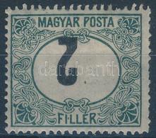 * 1920 Magyar Posta Portó 2f Tévnyomat Fordított értékszámmal (700.000). Mindössze 17 Darab Ismert, Az Egyik Legritkább  - Non Classificati