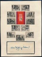 1948 Centenárium Sor: Cziglényi Ádám Festőművész 11 Kiadatlan Bélyegtervének Fotoeljárással Készült Bélyegképei Lapon, A - Non Classificati