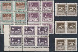 ** 1925 Sport I. 6 Sor, A 2500K Kivételével Hatostömbökben, 2 Stecklapon (84.000) - Non Classificati