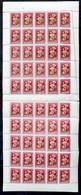 ** 1950 Virág (I.) 30f Hajtott Teljes ív, A Jobb Oldalon Jelentős Elfogazással (törések, Fogelválások / Folds, Aparted P - Non Classificati