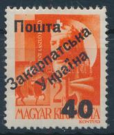 ** Ungvár I. 1945 Hadvezérek 40/2f Bodor Vizsgálójellel (70.000) - Non Classificati