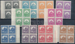 ** 1926 Pengő-fillér B Sor Négyestömbökben, 14 : 14 1/4 Fogazással (60.000) (16f Elvált Fogak / Aparted Perfs) - Non Classificati