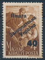 ** Ungvár I. 1945 Kossuth Lajos 40/4f Bodor Vizsgálójellel (50.000) - Non Classificati