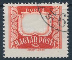 O 1958 Vörös-fekete Portó Bélyeg értékjelzés Nélkül (50.000) - Non Classificati
