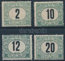 ** 1908 Zöldportó 2f, 10f, 12f, 20f 4. Vízjelállás (50.000+++) - Non Classificati