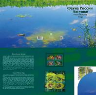 Souvenir Packs 1025 Russia 2021 2732-2735 NO EXTRA FEES Fauna Amphibian Frogs Pond Siberian Asia Minor Far Eastern - Ungebraucht
