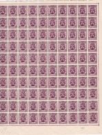 455 - XX - LION HERALDIQUE  - PREOBLITERATION - PANNEAU 3 - QQUES VAIETES DONT LA COB V1 - (T99 ) - Hojas Completas