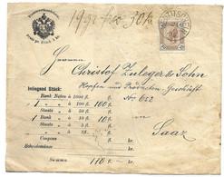 1895 Meutitschein To Saaz Geldueberweisungsschein - Covers & Documents