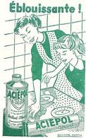 BUVARD  ACIEPOL  Brillant Abrasif Pour Cuisiniere , Produit Menage - Wash & Clean