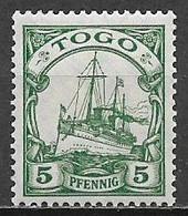 GERMANIA REICH COLONIA TOGO 1909-14  SERIE ORDINARIA FILAGRANA LOSANGHE YVERT. 20  MLH VF - Kolonie: Togo