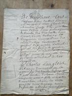 Acte 1759 Généralité De Rouen Bailly En Campagne - Manuskripte