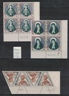 Monaco - Yvert 437-439 - 3 Coins Datés Oblitérés Premier Jour - Scott#350-352 - 3 Dated Corners With First Day Cancel - Used Stamps