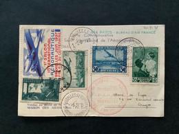 Luchtpostbrief 1937 - 1er Salon International De L'Aernautique - Luchtpost