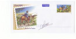 Poste PAP Nouvelle Caledonie 2004 Pret à Poster Enveloppe Entier Postal Illustration Facteur à Cheval Journée Du Timbre - Correo Postal