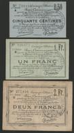 DOUAI ET REGION DE CARVIN : 3 Billets Différents Bons Communaux De 1914 (voir Description) - Bons & Nécessité