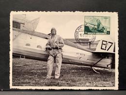 Postkaart S.M. Leopold III - Gebruikt CONFERENCE AEROPOSTALE EUROPEENNE 1938 - Airmail