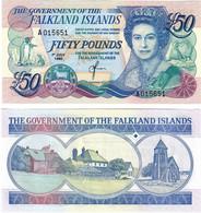 Falkland Islands 50 Pounds 1990 UNC - Falkland Islands