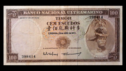 # # # Banknote Timor 100 Escudos 1963 # # # - Timor