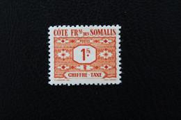 1947,CÔTE FRse Des SOMALIS TIMBRE-TAXE Y&T NO TA47 1fr Brun-jaune MH ** TB.. - Timbres-taxe