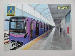 Azerbaijan. Baku Bakmil Metro Station With Tram - Metro