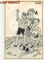ILLUSTRATEUR MAGGIE SALCEDO ASSOCIATION POUR LA SAUVEGARDE DE L'ENFANCE ENFANT ABANDONNE KID BEBE ENFANTINA - Cartes Humoristiques