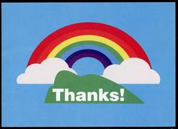 GIBRALTAR (2020) - Free Postage Postcard THANKS ! - COVID-19 Rainbow, Pandemic Arc-en-ciel Arcoiris Regenbogen Regenboog - Gibraltar
