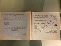 PETIT ALBUM DE VIGNETTES CONCERNANT LAGNY: 12 TIMBRES / VIGNETTES CONCERNANT DIFFERENTES VUES - Colecciones (en álbumes)