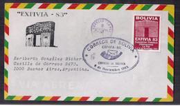 Bolivia FDC Exfilia 1983 - Bolivia