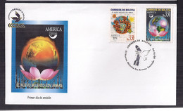 Bolivia FDC Un Nouveau Millénaire Sans Armes 1999 - Bolivia