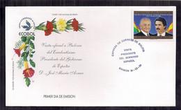 Bolivia FDC Visite Officielle En Bolivie Du Président Espagnol 1998 - Bolivia