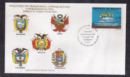 Bolivia FDC IV Conseil Présidentiel Andin 1990 - Bolivia
