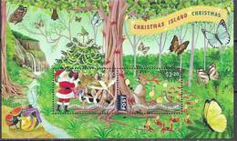 CHRISTMAS ISLAND, 2020, MNH, CHRISTMAS, BIRDS, BUTTERFLIES, CRABS, WATERFALLS, SHEETLET - Natale