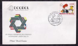 Bolivia FDC Jeux Sportifs Bolivariens 1992 - Bolivia
