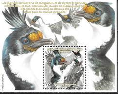 FRENCH ANTARCTIC, TAAF, 2021, MNH, BIRDS, CORMORANTS, S/SHEET - Otros