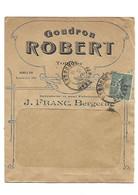 B7 Enveloppe à Fenetre Affranchi Semeuse Lignée YT 130 - GOUDRON ROBERT Tonique -j. Franc - Bergerac - 1877-1920: Periodo Semi Moderno
