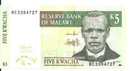 MALAWI 5 KWACHA 2005 UNC P 36 C - Malawi