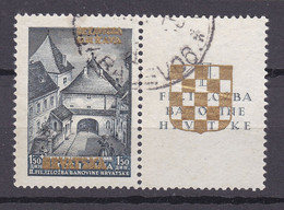 Kroatien - Deutsche Besetzung - 1941 - Michel Nr. 39 A Zf - Gestempelt - 30 Euro - Occupation 1938-45