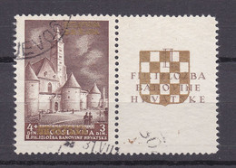 Kroatien - Deutsche Besetzung - 1941 - Michel Nr. 40 A Zf - Gestempelt - 30 Euro - Occupation 1938-45