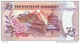 GUERNSEY P. 56c 5 P 2008 UNC - Guernsey