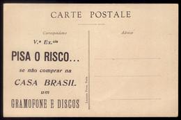 Postal Antigo PUBLICIDADE Loja De GRAMOFONE E DISCOS / Casa Brasil PORTO ? LISBOA ? Portugal - Porto