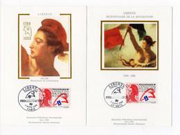 Carte Maximum 1988 - PhilexFrance 1989 - Exposition Philatélique Mondiale - YT 2485 - 57 Metz & Paris - 1980-89