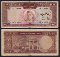 PERSIEN - PERSIA - IRAN 1000 RIALS (1969) Pick 89 Sig 11 VG (5)     (26505 - Otros – Asia