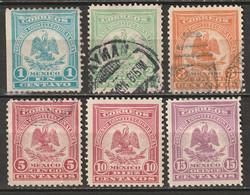 Mexico 1914 Sc 386-91  Partial Set MH*/used - Mexico