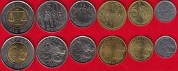 Ethiopia Set Of 6 Coins: 1 Santeem - 1 Birr UNC - Ethiopia