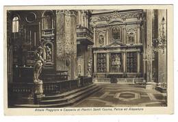 9080 - NAPOLI CHIESA DEI GIROLAMINI 1957 ALTARE MAGGIORE E CAPPELLA MARTIRI SANTI COSMA FELICE ALEPANZIO - Napoli (Naples)