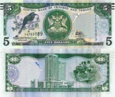 TRINIDAD And TOBAGO, 5 DOLLAR, 2006, P47c, UNC - Trinidad & Tobago