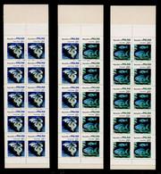 PALAU Année 1984 Carnets N° 142a , 142b 143a - Faune Marine  : Coquillages Et Poissons - Meereswelt